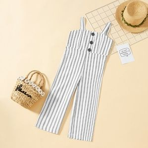 Other - NWT Girls Button Front Striped Wide Leg Jumpsuit